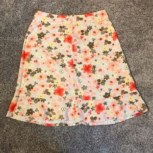 Christopher and banks flower skirt size 8